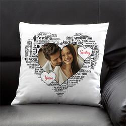 - 100 Dilde Seni Seviyorum Fotoğraflı Yastık