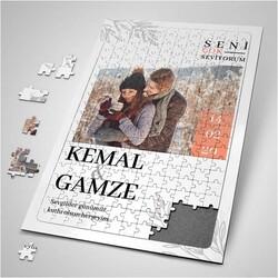 - 14 Şubat Hatırası Fotoğraflı Puzzle