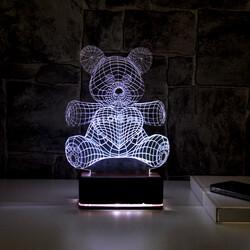 - 3D Sevimli ve Romantik Ayıcık Lamba