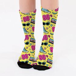 - 90'lı Yıllar Tasarımlı Kadın Çorabı
