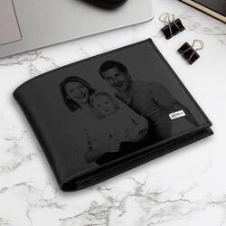 - Aileye Özel Fotoğraflı Siyah Cüzdan