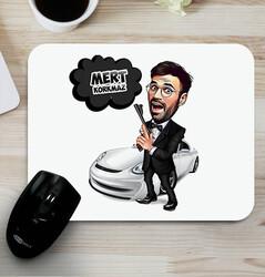 - Ajan Bond Karikatürlü Mouse Pad