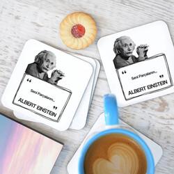 - Albert Einstein Esprili Bardak Altlığı Seti