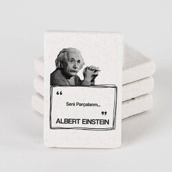 - Albert Einstein Esprili Taş Buzdolabı Magneti