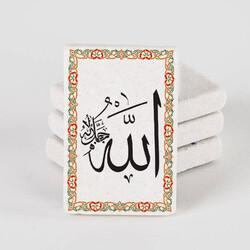 - Allah Yazılı Taş Buzdolabı Magneti