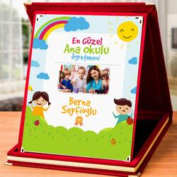 - Anaokulu Öğretmenlerine Hediye Resimli Plaket