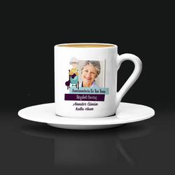 - Anneannelere Özel Fotoğraflı Kahve Fincanı