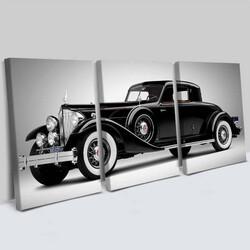 - Antika Otomobil 3 Parça Kanvas Tablo