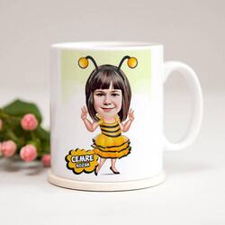 - Arı Kız Karikatürlü Kupa Bardak