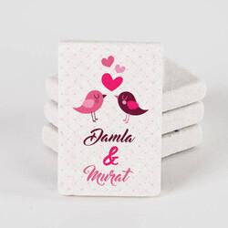- Aşk Kuşları İsimli Taş Buzdolabı Magneti