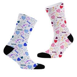- Aşk Oku İsme Özel 2li Çorap Seti