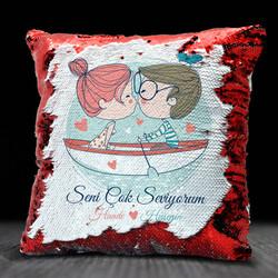 - Aşk Sandalı Sevgililere Özel Sihirli Yastık