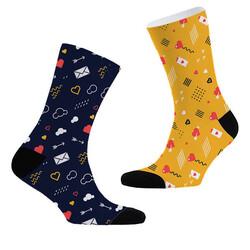 - Aşk Sinyalleri 2li Çorap Seti