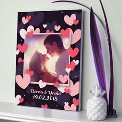 - Aşkımızın Romantik Portresi Kanvas Tablo