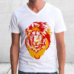 - Aslan Figürlü Erkek Tişörtü