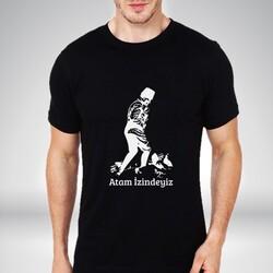 - Atam İzindeyiz Siyah Erkek Tişört