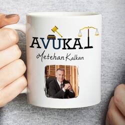 - Avukat Resimli İsme Özel Kupa Bardak