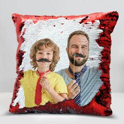 - Babalara Özel Sihirli Yastık Kırmızı Pullu