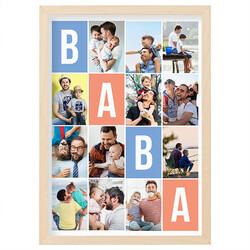 - Babaya Hediye 12 Fotoğraflı Resim Çerçevesi