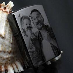 - Babaya Hediye Fotoğraflı Metal Çakmak