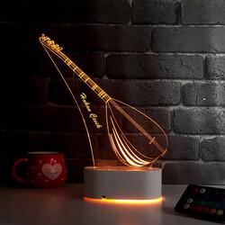 - Bağlama Saz Temalı 3D LED Lamba