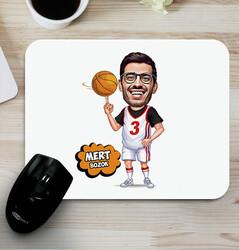 - Basketbol Oyuncusu Karikatürlü Mouse Pad