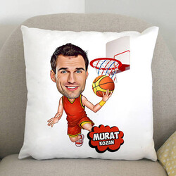 - Basketbol Oyuncusu Karikatürlü Yastık