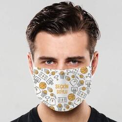 - Basketbol Tasarımlı İsme Özel Maske