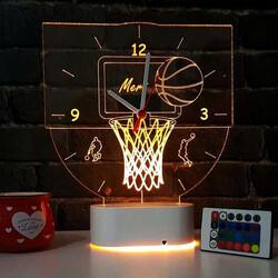 - Basketbol Temalı 3d Led Lamba