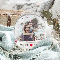 Bayan Sevgiliye Hediye Kar Küresi - Thumbnail