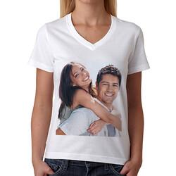 - Bayanlar İçin Kişiye Özel Fotoğraf Baskılı Tişört