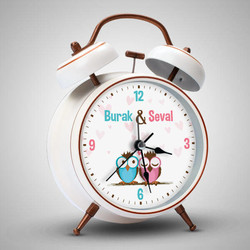 Baykuş Temalı İsme Özel Çalar Saat - Thumbnail