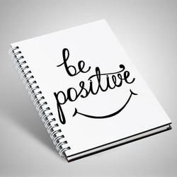 - Be Positive Temalı Motto Defter
