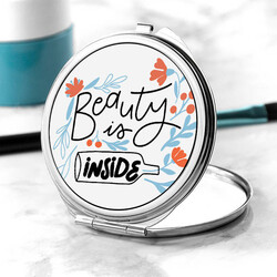 - Beautiy Is Inside Tasarım Makyaj Aynası
