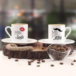 - Bıyık ve Dudak İkili Kahve Fincanı