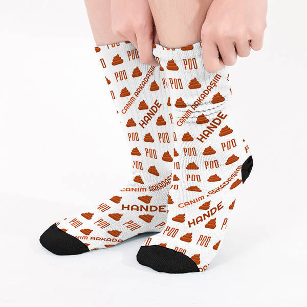 Bok Emojili İsme Özel Çorap