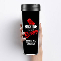 - Boxing Is My Therapy Termos