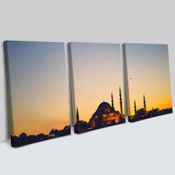 - Camii Tasarımlı Dekoratif 3 Parça Tablo
