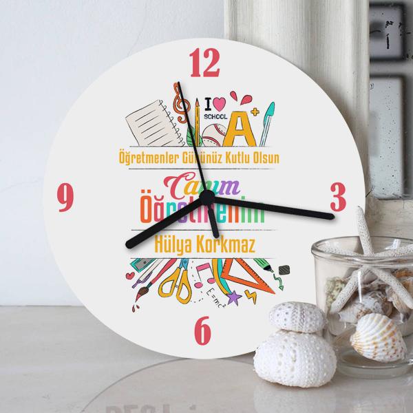 Canım Öğretmenim Hediye Duvar Saati