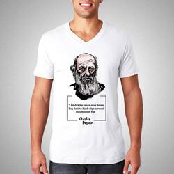 - Charles Darwin Esprili Tişört