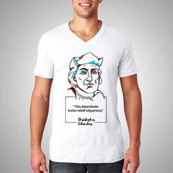 - Christopher Columbus Esprili Tişört