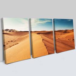 - Çöl Manzaralı 3 Parça Kanvas Tablo