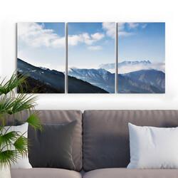 - Dağ Manzaralı 3 Parça Kanvas Tablo
