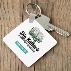 - Din Öğretmenlerine Özel Kare Anahtarlık