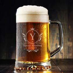 - Doğum Günü Hediyesi Tarihli Bira Bardağı