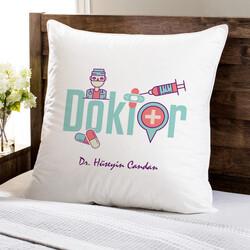 - Doktorlara Özel Kare Yastık