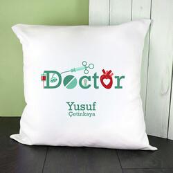 - Doktorlara Özel Mesleki Temalı Kare Yastık