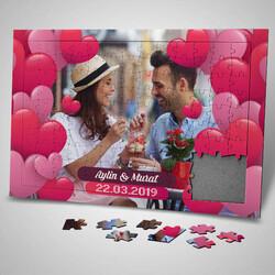 - Dopdolu Romantik Kalpler 130 parça Puzzle