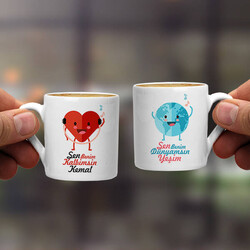 - Dünyam ve Kalbim İkili Kahve Fincanı