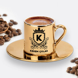 - Erkeğe Hediye Gold Kahve Fincanı